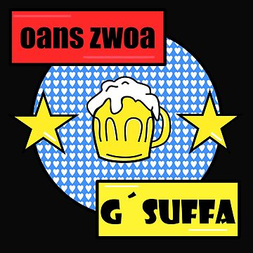 oans zwoa gsuffa by colorkitchy