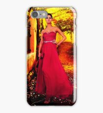Model In The Garden Fine Art Print iPhone Case/Skin