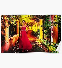 Model In The Garden Fine Art Print Poster