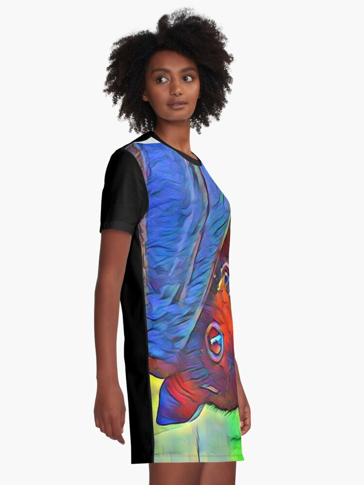 Alternate view of Protect The Bats. Graphic T-Shirt Dress