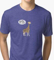 Giraffes are cool Tri-blend T-Shirt
