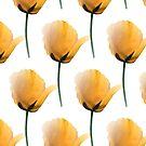 Orange poppies pattern by by-jwp