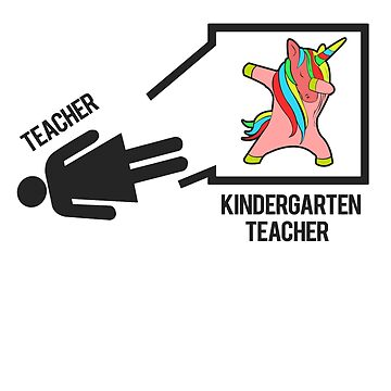 Dabbing Unicorn Teacher' Kindergarten Teacher Gift by leyogi