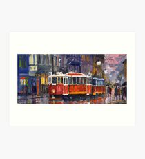 Prague Old Tram 09 Art Print