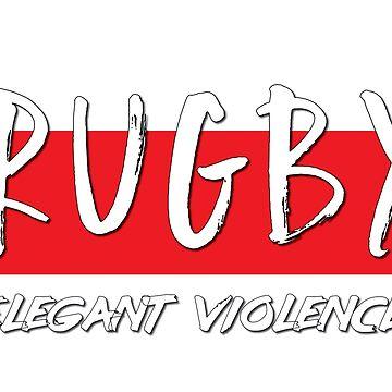 Rugby Elegant Violence England by ThreeCrowns