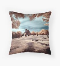 Upleatham Church, infrared Throw Pillow