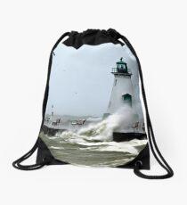 surf's up Drawstring Bag