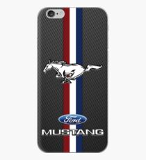 Mustang Emblem Black Carbon iPhone Case