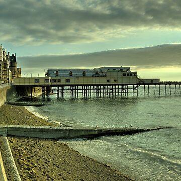 Aberystwyth pier and beach by hawkie