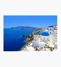 Santorini island, Greece Photographic Print