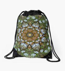 Yellow Tree Flower Kaleidoscope Art 5 Drawstring Bag