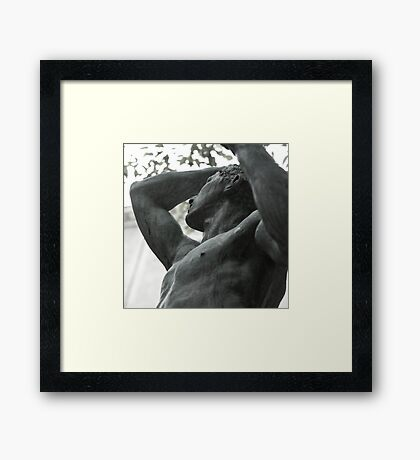 the effort of eternal thought Framed Print