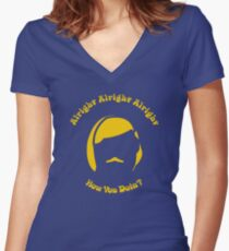 Alright Alright Alright Women's Fitted V-Neck T-Shirt