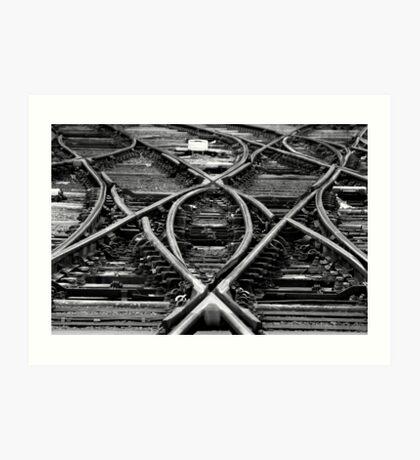 Crossed Tracks Art Print