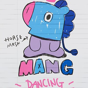 BTS - BT21 - MANG doodle note by Red-One48