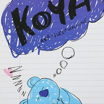 BTS - BT21 - KOYA doodle note by Red-One48