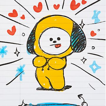 BTS - BT21 - CHIMMY doodle note by Red-One48