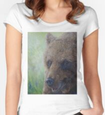 Brown Bear (Ursus arctos arctos) Women's Fitted Scoop T-Shirt
