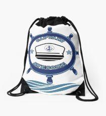 Captain Awesome - Life of a Mariner Drawstring Bag