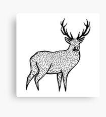Linocut - Deer Canvas Print