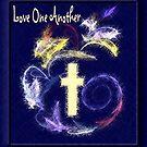 Liebe einander (blaue Version) von Marie Sharp