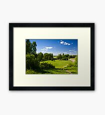 The House in suburb. Framed Print