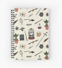 Owl and wand Spiral Notebook