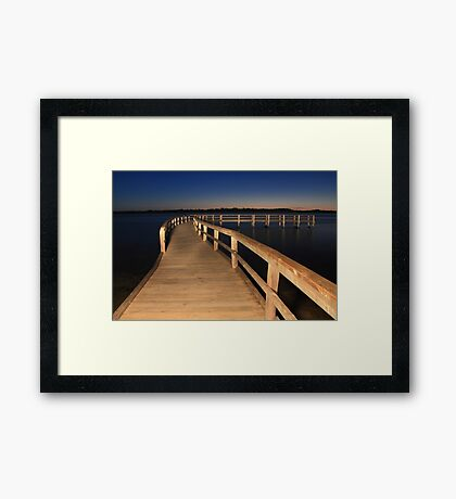 Lake Clifton Boardwalk At Dusk  Framed Print