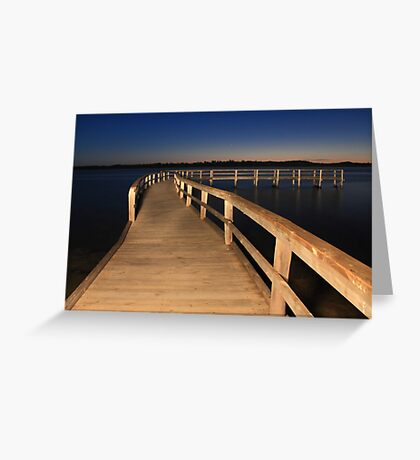 Lake Clifton Boardwalk At Dusk  Greeting Card