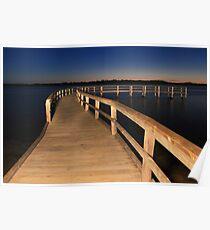 Lake Clifton Boardwalk At Dusk  Poster