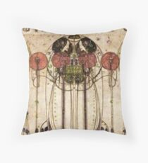 Charles Rennie Mackintosh, The Wassail 1900  (Detail, Crop) Throw Pillow