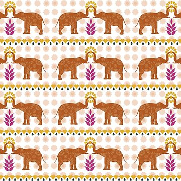 Indian summer pattern by lizmaydesigns
