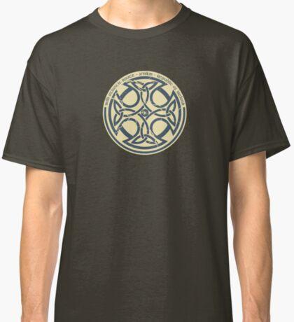 Wild Atlantic Route, Ireland - Celtic Cross - Blue/Beige Classic T-Shirt