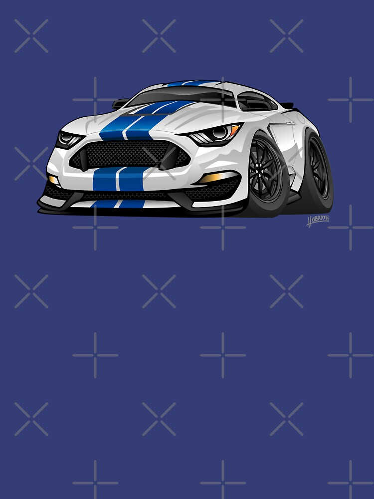 Modern American Muscle Car Cartoon Unisex T Shirt By Hobrath