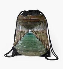 Under the Pier - Flinders, VIC Drawstring Bag