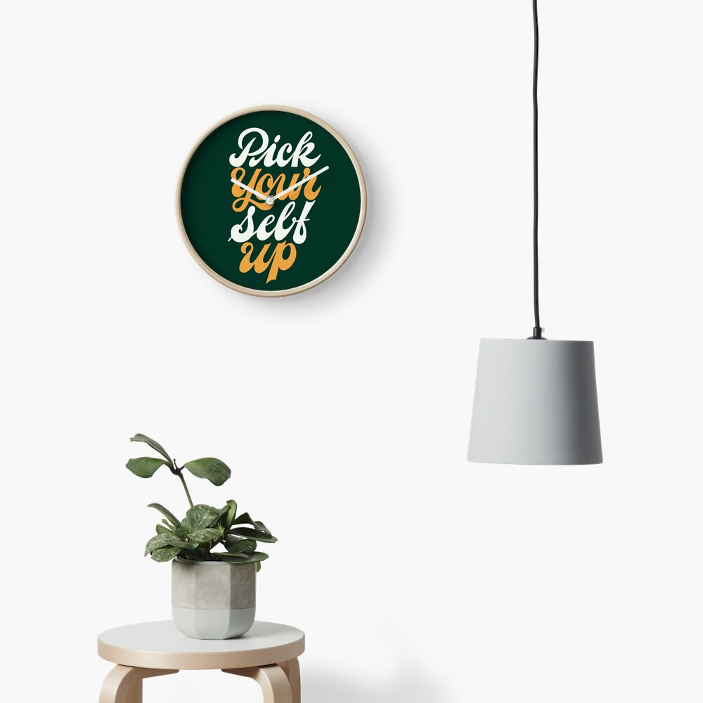 Pick Your Self Up Clock