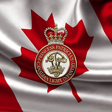 Princess Patricia's Canadian Light Infantry - PPCLI Cap Badge over Canadian Flag by Captain7