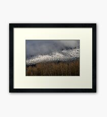 Snow in the Hills Framed Print