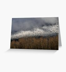 Snow in the Hills Greeting Card