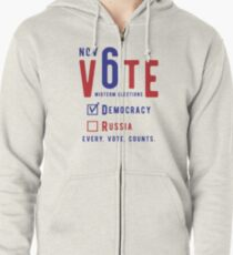 Vote for Democracy Zipped Hoodie