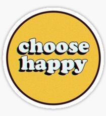Pegatina Elige feliz