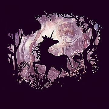 Unicorn in magical forest by strijkdesign