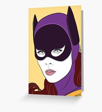 60s Bat Girl - Nagel Style Greeting Card