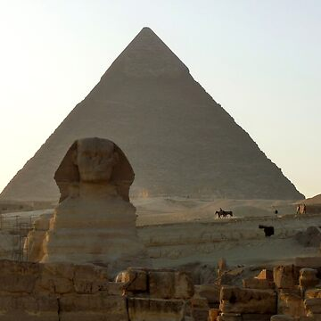 Late Afternoon Sun on Khafre's Pyramid and The Great Sphinx by GVAZDesigns