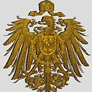 German Heritage, 1888 Feathered Reich Eagle by edsimoneit