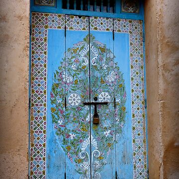 Door in the Courtyard of the Kasbah des Oudaias  by GVAZDesigns