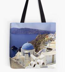 Santorini View Tote Bag