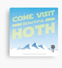 Hoth travel poster Canvas Print