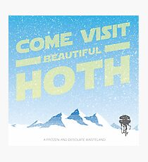Hoth travel poster Photographic Print