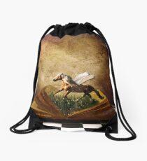 Give me Wings & Set me Free Drawstring Bag